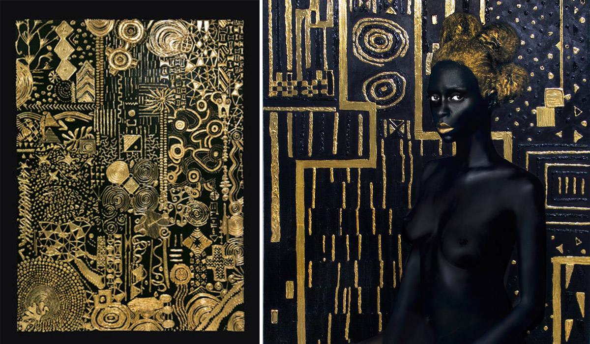 Lina Iris Viktor's Afro-Futuristic Art Covered in 24-Karat